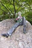 Estatua de Óscar Wilde Imágenes de archivo libres de regalías