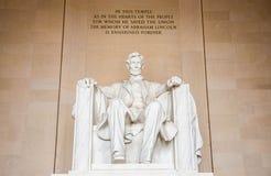 Estatua de Abraham Lincoln Fotografía de archivo libre de regalías