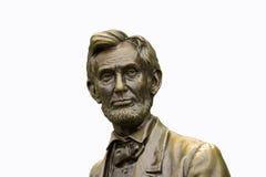 Estatua de Abraham Lincoln aislada Imagen de archivo