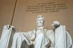 Estatua de Abraham Lincoln en el monumento de Lincoln Foto de archivo