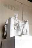 Estatua de Abraham Lincoln en el monumento de Lincoln Imagenes de archivo