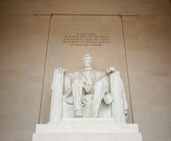 Estatua de Abraham Lincoln en Washington DC Imágenes de archivo libres de regalías