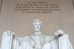 Estatua de Abraham Lincoln, Lincoln Memorial Foto de archivo libre de regalías