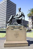 Estatua de Adam Lindsay Gordon Imagenes de archivo