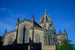 Estatua de Adam Smith, Edimburgo, Escocia Imagenes de archivo