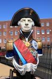 Estatua de almirante Lord Nelson Fotografía de archivo