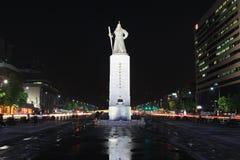 Estatua de almirante Yi Sun-Shin, Seul, Corea Imagen de archivo libre de regalías