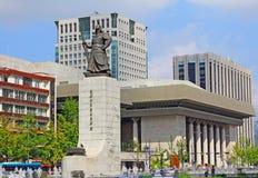 Estatua de almirante Yi Sun-Shin, Seul, Corea Foto de archivo