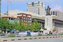 Estatua de almirante Yi Sun-Shin, Seul, Corea Fotografía de archivo libre de regalías