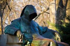 Estatua de anónimo en Budapest, Hungría imagen de archivo