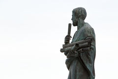 Estatua de Aristóteles un gran filósofo griego Fotografía de archivo libre de regalías