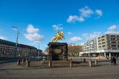 Estatua de Augustus II imagen de archivo libre de regalías