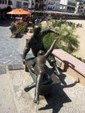 Estatua de bailarines en Tossa de Mar Costa Brava Imágenes de archivo libres de regalías
