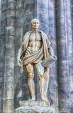 Estatua de Bartholomew el apóstol dentro de Milan Cathedral, Italia Imágenes de archivo libres de regalías
