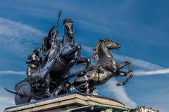 Estatua de Boudica - puente de Londres Imagen de archivo libre de regalías