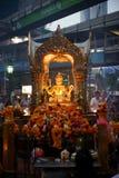 Estatua de Brahma en la capilla de Erawan Imagenes de archivo
