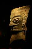 Estatua de bronce antigua grande China de la máscara Fotografía de archivo