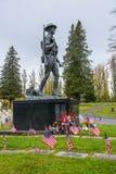 Estatua de bronce conmemorativa de los veteranos americanos del Doughboy Imagen de archivo libre de regalías