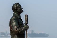 Estatua de bronce de Bob Hope en San Diego, California Imagen de archivo