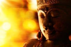 Estatua de bronce de Buda fotografía de archivo