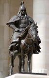 Estatua de bronce de los guerreros de Genghis Khan fotografía de archivo
