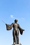 Estatua de bronce del director de pista de circo Foto de archivo