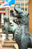 Estatua de bronce del león fotos de archivo libres de regalías