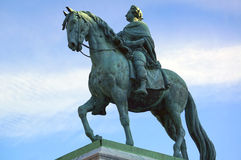 Estatua de bronce ecuestre de rey Frederik V fotos de archivo libres de regalías