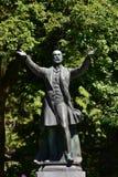 Estatua de bronce de Lord Stanley imágenes de archivo libres de regalías