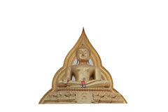 Estatua de Buda aislada Imagenes de archivo
