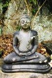 Estatua de Buda contra un bosque tropical en Sri Lanka Fotografía de archivo
