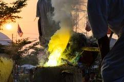 Estatua de Buda de la adoración Foto de archivo libre de regalías