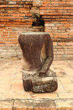 Estatua de Buda del daño fotos de archivo libres de regalías