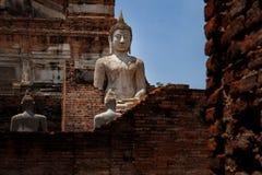Estatua de Buda en el patrimonio mundial s de ayutthaya del mongkol de yai chai del wat Fotografía de archivo