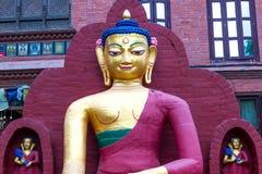 Estatua de Buda en el templo de Swayambhunath Fotografía de archivo