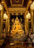 Estatua de Buda en el templo de Wat Phra Sri Rattana Mahathat, Tailandia foto de archivo libre de regalías