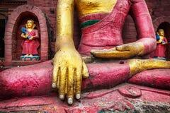 Estatua de Buda en Nepal Fotos de archivo