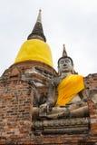 Estatua de Buda en Wat Yai Chaimongkol - Ayutthaya Fotos de archivo libres de regalías