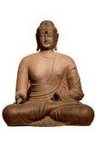 Estatua de Buddha con el fondo aislado Imagen de archivo libre de regalías