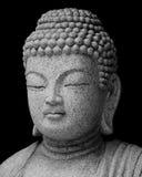 Estatua de Buddha en blanco y negro Imágenes de archivo libres de regalías