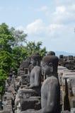 Estatua de Buddha en Borobudur Imágenes de archivo libres de regalías