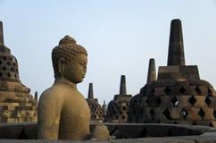 Estatua de Buddha en Borobudur Imagen de archivo libre de regalías