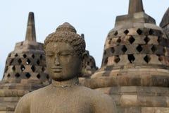 Estatua de Buddha en Borobudur Foto de archivo libre de regalías