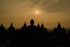 Estatua de Buddha en Borobudur Fotografía de archivo libre de regalías