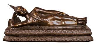 Estatua de Buddha en el fondo blanco Fotos de archivo