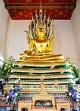 Estatua de Buddha en Wat Pho, Bangkok, Tailandia Imágenes de archivo libres de regalías