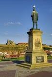Estatua de capitán James Cook Imagen de archivo libre de regalías