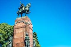 Estatua de Carlos de Alvear en Buenos Aires, la Argentina imagen de archivo