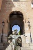 Estatua de Cervantes del escritor, Toledo, España Fotografía de archivo