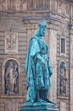 Estatua de Charles en Praga Imágenes de archivo libres de regalías